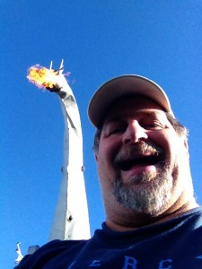 Sumoflam and the Fire Breathing Dragon of Kaskaskia in Vandalia, IL