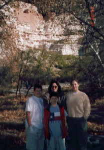 Visiting Montezuma Castle National Monument, near Cottonwood, AZ  in late 1999