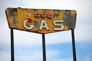 Old Mojo Gas Sign - Rock Springs, Wyoming