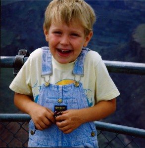 Seth at Grand Canyon in 1992
