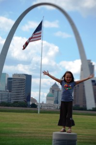 Joselyn at Gateway Arch in St. Louis, Sept. 2013