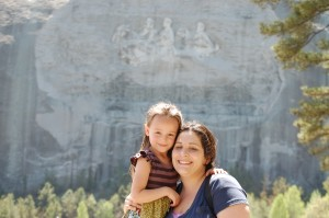 Jos and her mother Marissa at Stone Mountain in Georgia, April 2013