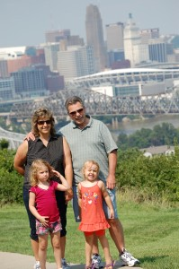 Autumn and Savannah with my sister Sherry and her husband Brian - Aug. 2009
