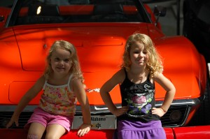 Autumn and Savannah (my niece) at the Corvette Museum in Bowling Green, KY in Aug. 2009