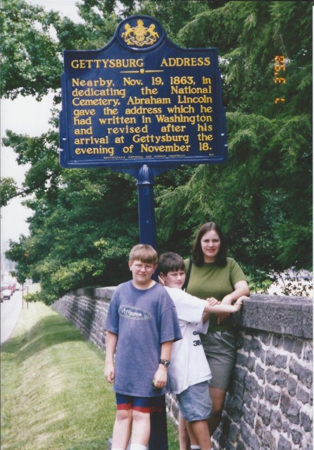 Gettysburg Address Commemorative Sign, July 1998