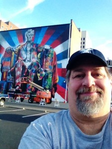 Sumoflam at the new Lincoln Mural (not quite finished) on Veteran's Day 2013