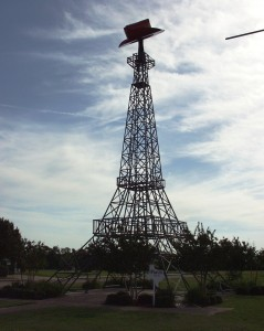 Eiffel Tower with a Cowboy Hat in Paris, Texas - June 2007