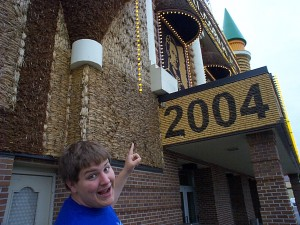 Seth at the Corn Palace in Mitchell, SD August 2004