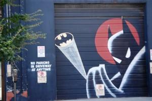 Batman mural in Louisville on Main Street
