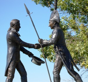 Lewis and Clark meeting at the Falls of the Ohio