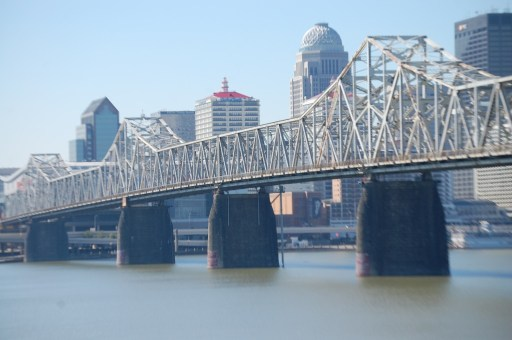 Second Street Bridge as seen from Jeffersonville, IN with Louisville in the background