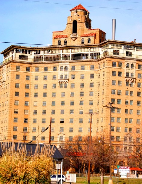 The Old Douglas Hotel in Mineral Wells, 1930s hotel to the stars (and Bonny and Clyde). Covered by Tui Snider in her book (photo by Sumoflam Productions)