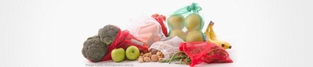 Fregie Sacks, an alternative to plastic bags in the fruit & vegie aisle Photo Credit: thefregiesack.com.au