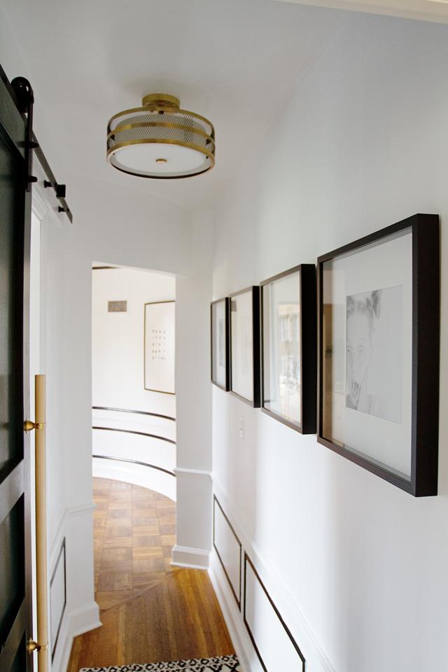 hallway + half bath reveal