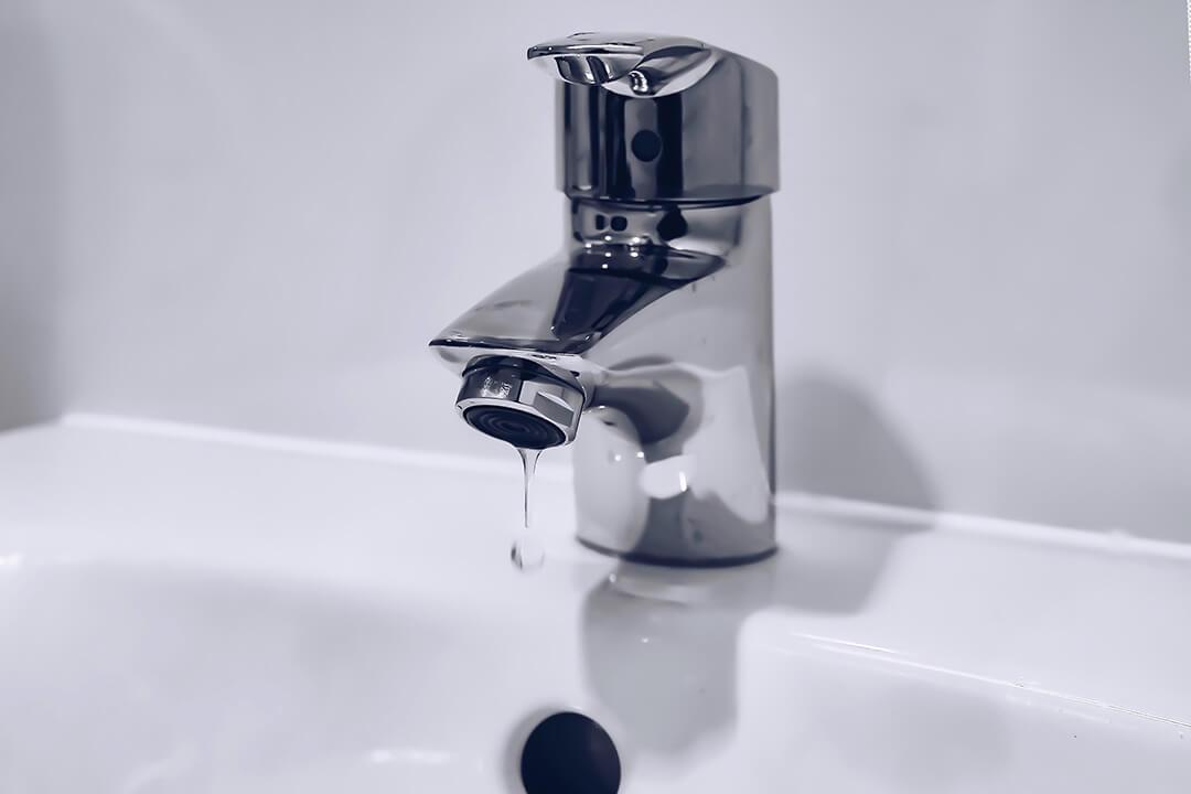 Bathroom sink dripping