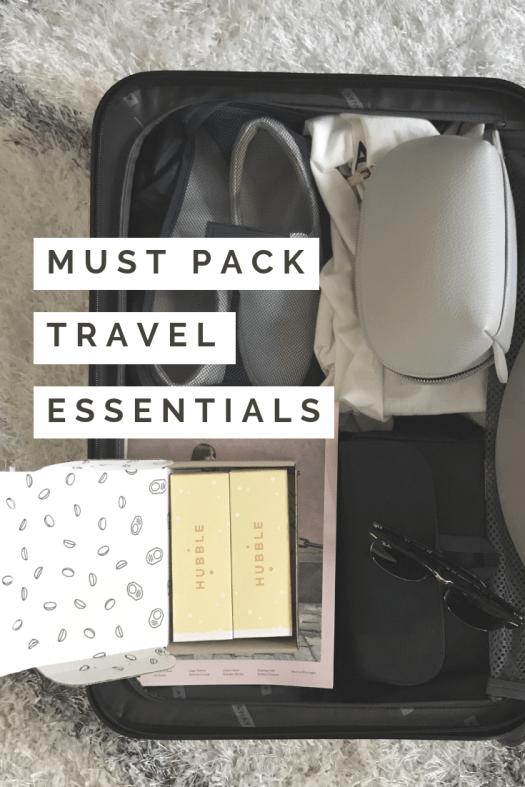 travel essentials pinterest pin image