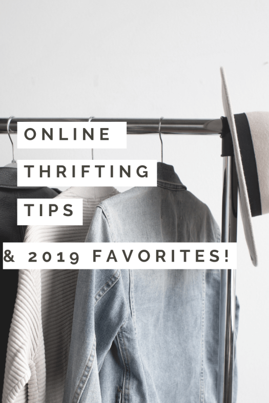 online thrifting pinterest pin image