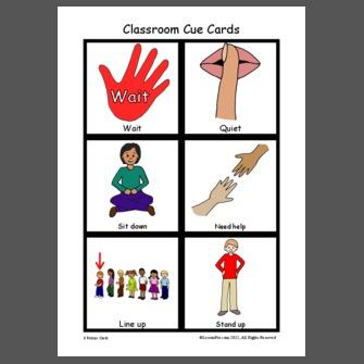 Classroom Cue Cards