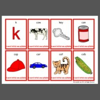 k word initial one syllable