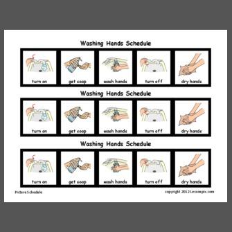 Washing Hands Schedule