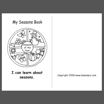 My Seasons Book (fill in the blank and color the picture)