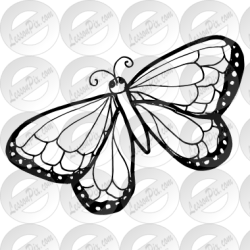 Butterfly Outline for Classroom / Therapy Use Great Butterfly Clipart