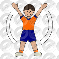 Jumping Jack Picture for Classroom / Therapy Use