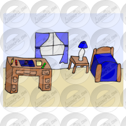 Bedroom Picture for Classroom / Therapy Use Great Bedroom Clipart