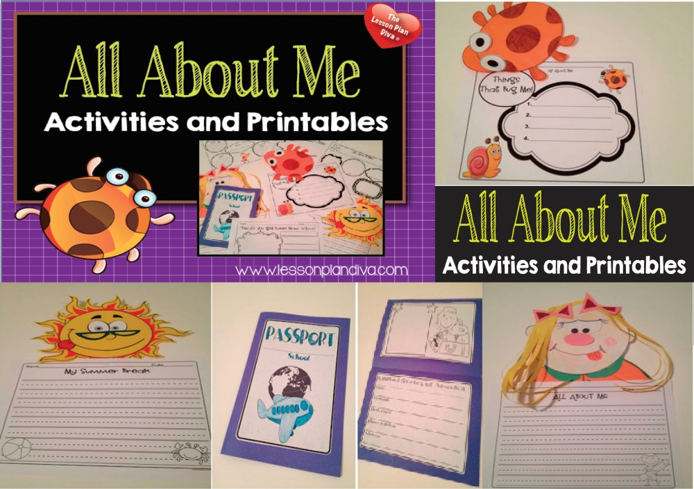 medium resolution of ALL About Me First Week of School Activities! First Day Jitters FREEBIE! -  The Lesson Plan Diva