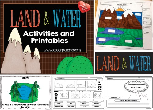 small resolution of Landforms and Bodies of Water FREEBIE! - The Lesson Plan Diva