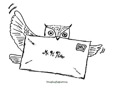 » Owl Post Coloring Page Lesson Plan of Happiness