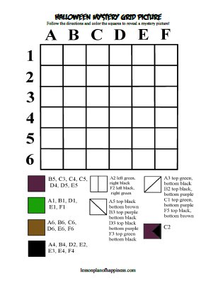 Grid Coloring Mystery Picture Worksheets Coloring Pages