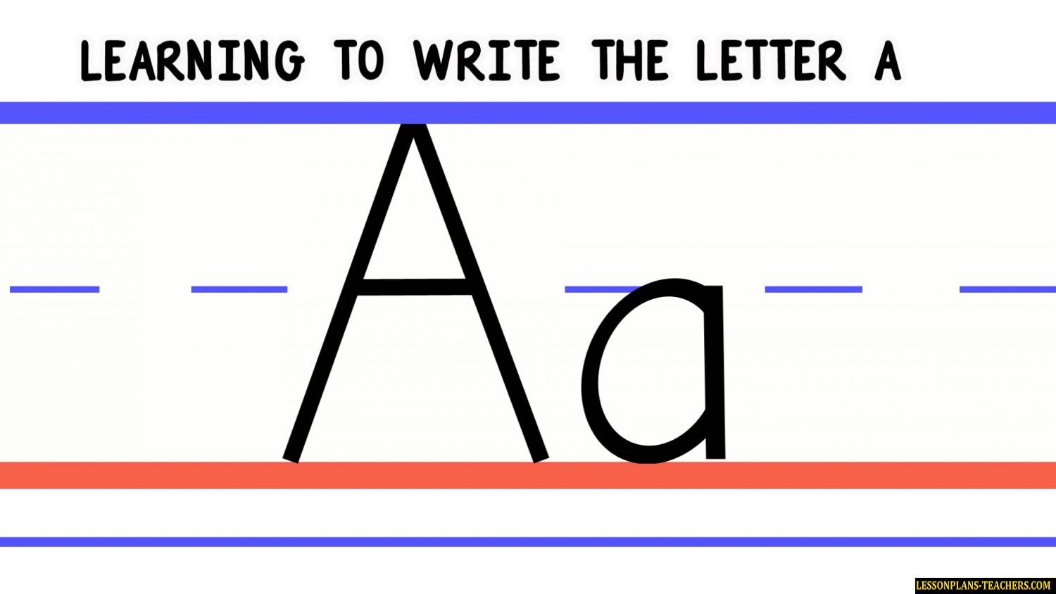 Letter A A Lesson Plan Free
