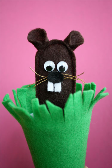 Felt Groundhog Finger Puppet Lesson Plans