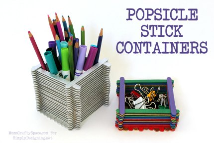 Popsicle Stick Desk Set1