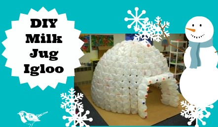 Diy milk jug igloo lesson plans for How to build an igloo out of milk jugs