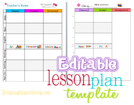Free Download Lesson Plan Calender Plans
