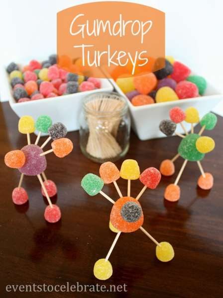 Thanksgiving-Crafts-Gumdrop-Turkeys-eventstocelebrate
