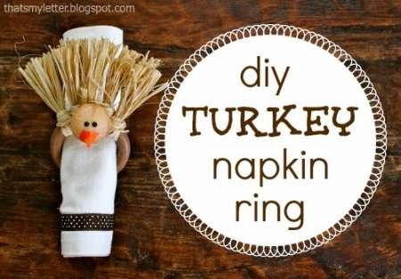 Kids Craft – Thanksgiving Turkey Napkin Rings