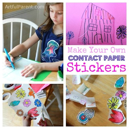 Make Your Own Contact Paper Stickers With Kids Lesson Plans