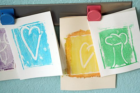 Making Prints for Mother's Day Cards