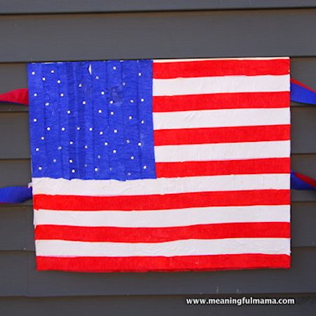 Crepe Paper Flag Craft
