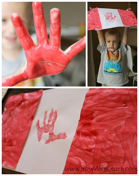 Handprint Canada Flags