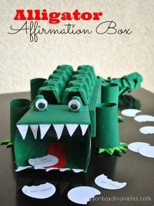 Alligator Affirmation Box
