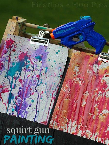 Squirt Gun Painting  Lesson Plans-8288