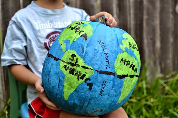 Pumpkin Globe Geography Lesson