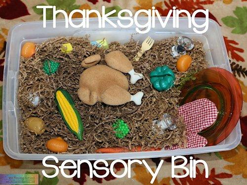 Thanksgiving Dinner Sensory Bin