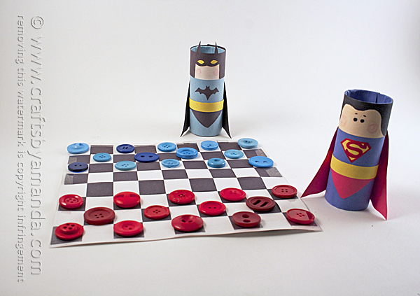 Batman vs Superman Checkers