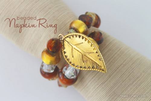 Beaded Thanksgiving Napkin Ring