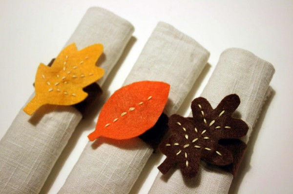 Felt Leaf Napkin Ring
